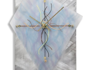 Trapozoid Steel Plexiglass Clock
