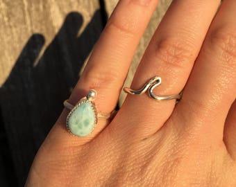 Blue Waters Larimar Ring