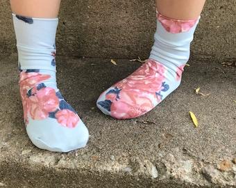 Rose Garden Socks- Crew, Knee High, Over the Knee