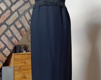 1960s Black Column Dress, very Audrey Hepburn UK 8