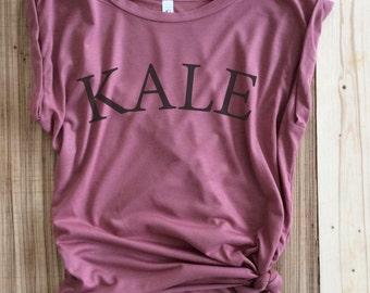 Kale-,Kale tshirt, Kale shirt, Vegan Shirt, Vegetarian Shirt,Kale Tee, Funny Vegan, Vegetarian, Kale Top, high low shirt