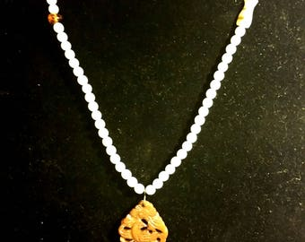 Sea of Inspiration, antique white coral necklace