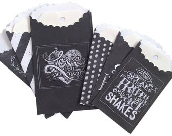 Melissa Frances Chalk Talk Tags and Bags -- Small Bags