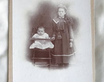 Antique cabinet card of two children