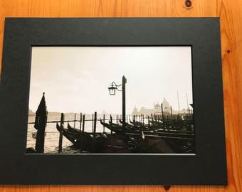 Venice 12x8 print in a A4 mounted frame