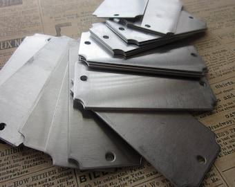 5 Aluminum Scalloped Edge Rectangle Blanks - 18 Gauge