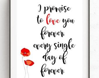 Valentine's gift printable, wall art printable, home decor, Valentine's day print, Valentine's day card, Love Quote