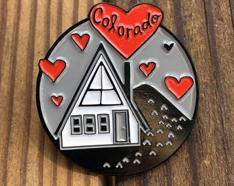 Colorado Cabin Love - enamel pin