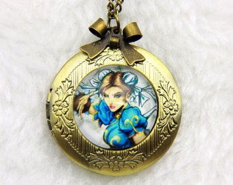 Chunli Necklace, Chunli locket, geek jewelry, geek necklace, geek locket, 2020m