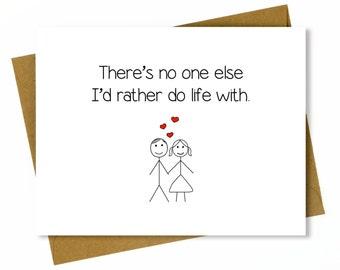 Husband Anniversary Card / Cute Anniversary Card for Boyfriend or Husband / Sweet Birthday Card for Husband or Boyfriend - Do Life With