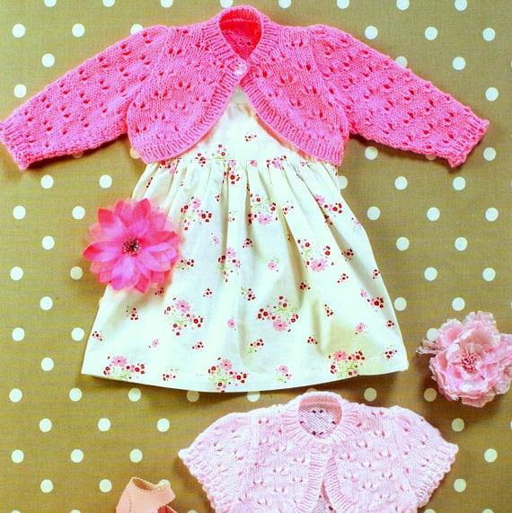 Vintage Knitting Pattern PDF Baby and Childrens Bolero Shrug