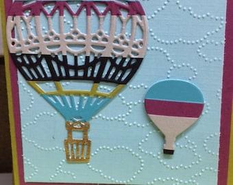 Hot Air Balloons - Happy Birthday