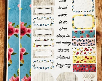 FARMHOUSE Personal Weekly Sticker Kit, Planner Stickers, Sticker Kit Sized for Erin Condren Life Planner