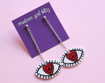 Hypnotized Eye Dangle Earrings