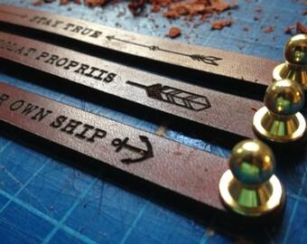 EXPLOR Handmade Men's Bracelet - Full Grain / Solid Brass