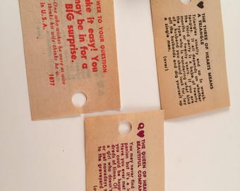 1950s Carnival Swami Cards 5 for 1.50