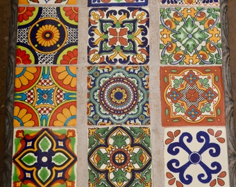 15 Talavera Tiles  Mixed 4x4""