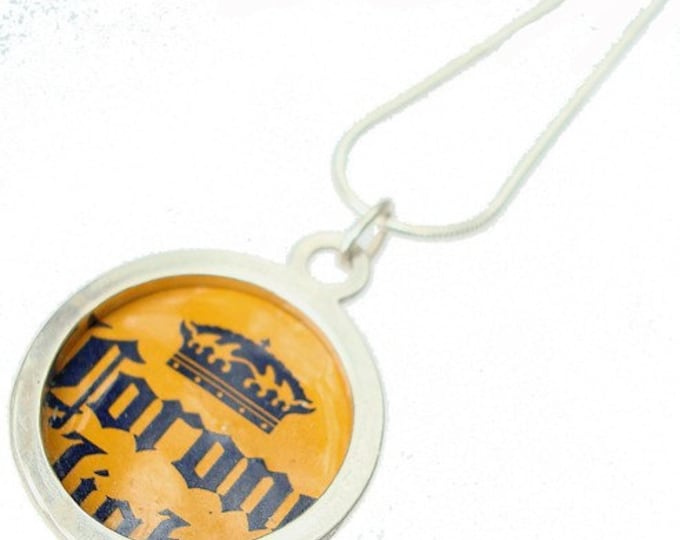 Corona Bottle Cap/ Sterling Silver Pendant