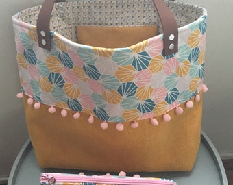 Bag Tote & pouch attached