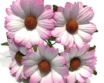 Pink Blush Mulberry Paper Chrysanthemums Chry001