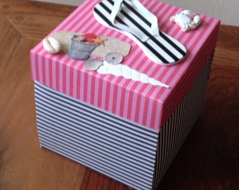Handmade box explosion, photo album, gift idea, birthday gift, teacher's gift