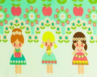 Finch fabrics Cotton Jersey flower girl mint (21.90 EUR / meter)
