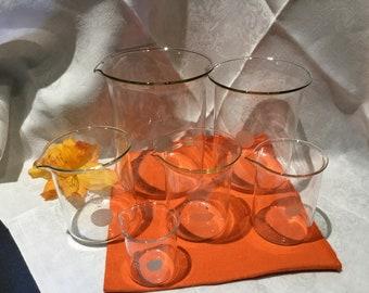 6 Pyrex Beaker Set, Vintage Laboratory