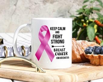 Breast Cancer Awareness Mug - Breast Cancer Awareness Gifts - Breast Cancer Patient Recovery Gift - Breast Cancer Mugs - Pink Ribbon Mug