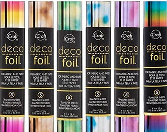 Choice of Watercolor Foil Transfer Sheets for fabric and paper - Deco Foil