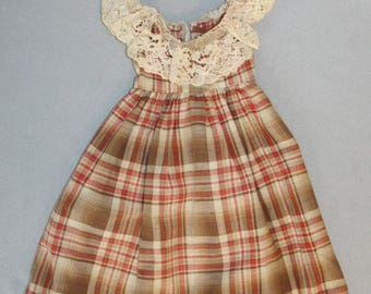 Vintage Doll Dress or Pinafore