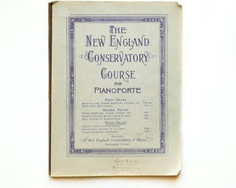 The New England Conservatory Course for Pianoforte 1941 Vintage Piano Music