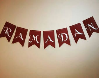 Ramadan Garland letters hanging