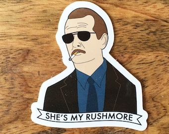 Herman Blume Sticker - Wes Anderson She's My Rushmore Illustrated Vinyl Sticker