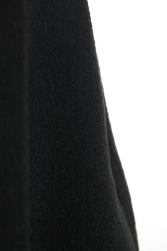 "Black Swing Coat 60s Vintage Coat Black Cashmere Camel Wool Coat Shiny Jacket Minimalist Mod Vintage Clothing Women's S/M PETITE - 39"" Bust"