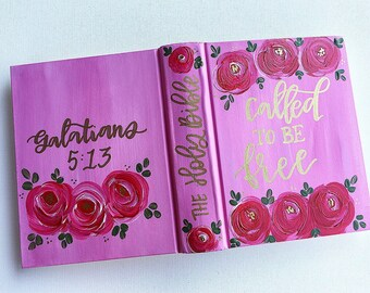 Called to be free | galatians 5:13 | painted bible | journaling bible