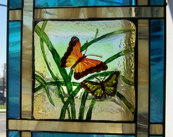 Butterfly glass hanging