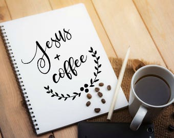 Jesus and Coffee Spiral Notebook  Ruled-Lined