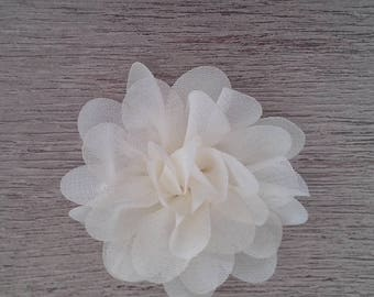 White organza fabric flower