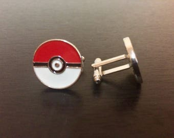 Pokemon Pokeball Cuff Link Set