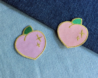 Sparkle Peach Patch - 2 Colors Available Light Orange and Light Pink