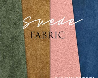 Beautiful suede fabric - various styles | Perfect for bookbinding, bag making, upholstery and more