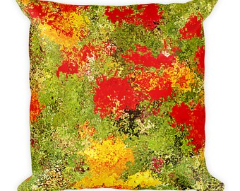 Ranunculas Flowers Square Pillow