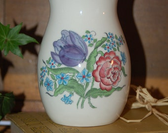 Hand Painted Vase - Mann French Bouquet Vase MCMLXXXII