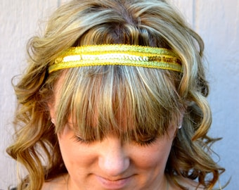 Gold Trim with gold Sequin Headband