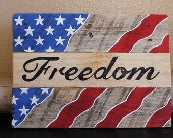 American Flag, Memorial Day, Independence Day,Red White And Blue, rustic flag, Freedom decor, freedom, freedom flag, flag decor, wooden flag