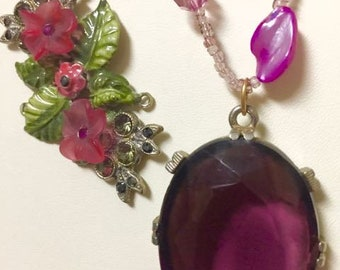 Amethyst Floral Ballerina Necklace
