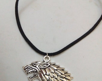 wolf game of thrones charm stark