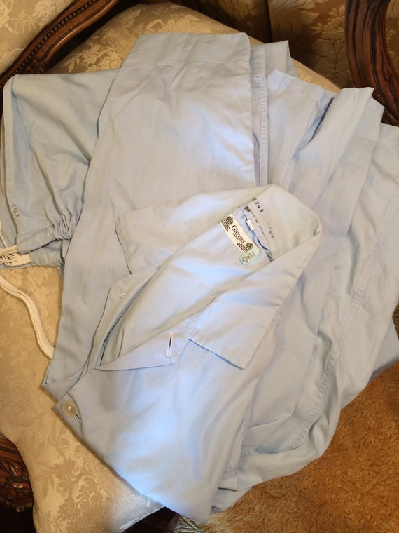 Gieves 40's pale blue cotton pyjamas. Strong . Clean. 44 chest. Quality