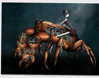 The cancer- 11x8 or 16,5x11 inches fine art print- Signed - Printed by a professional
