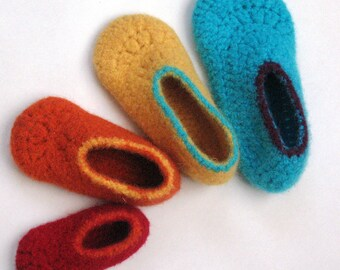 Felt Kids Slippers Crochet Pattern No. 7